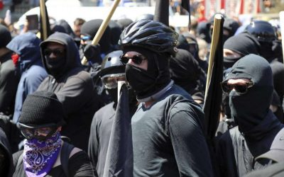 White Nationalists and Black-clad Antifas